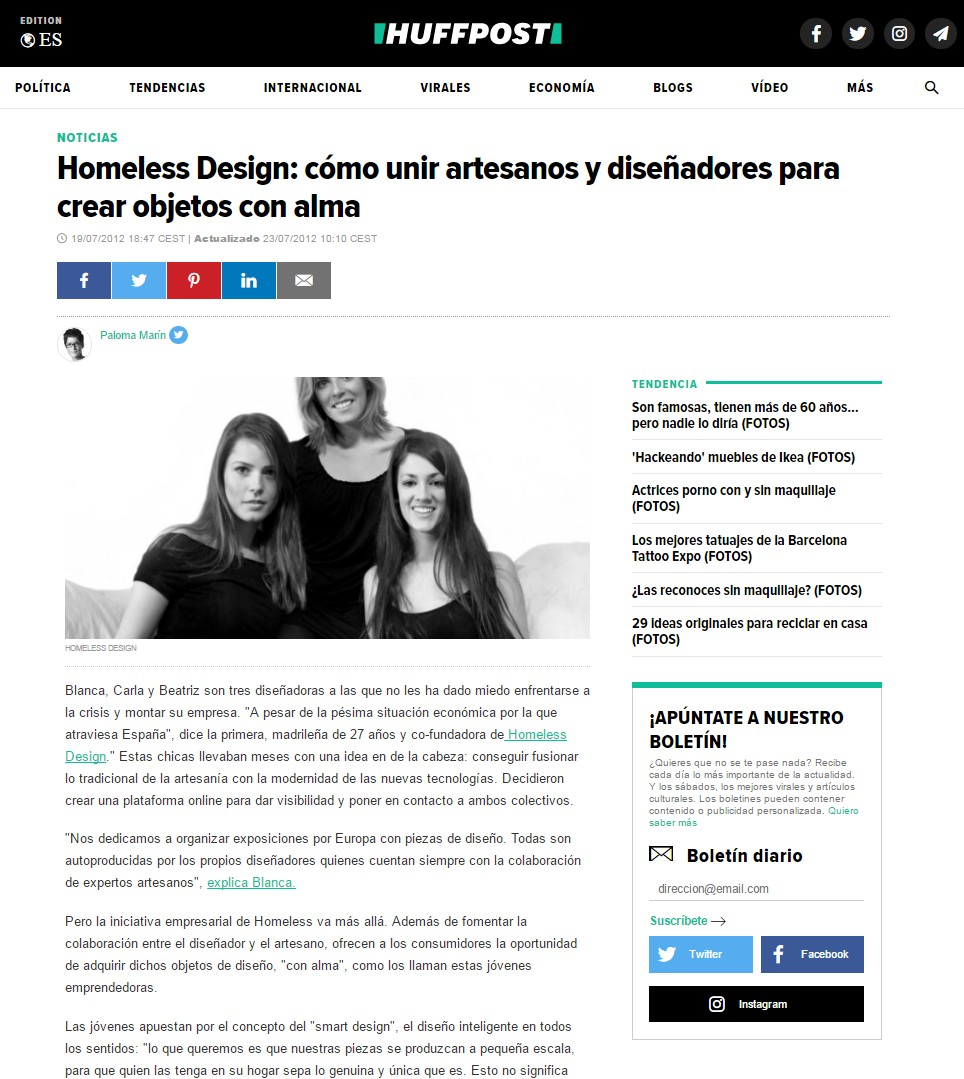 The Homeless Design Project - The Huffington Post | Carla Guilhem Design